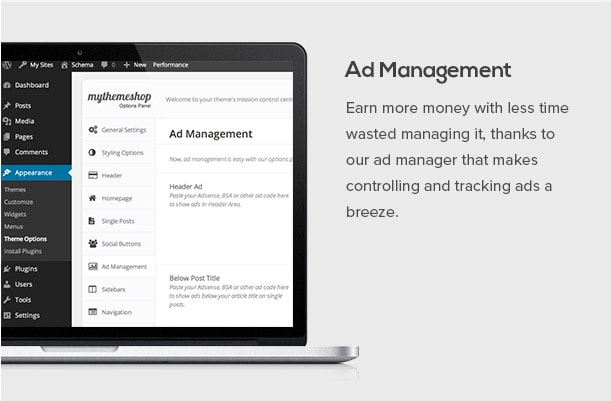 Earn more money with less time wasted managing it, thanks to our ad manager that makes controlling and tracking ads a breeze.