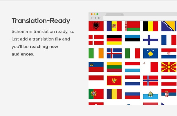 Schema is translation ready, so just add a translation file and you'll be reaching new audiences.