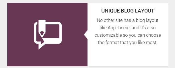 No other site has a blog layout like AppTheme, and it's also customizable so you can choose the format that you like most.