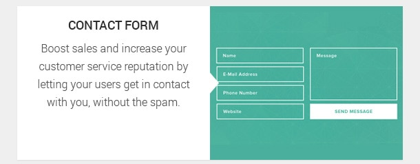 Boost sales and increase your customer service reputation by letting your users get in contact with you, without the spam.