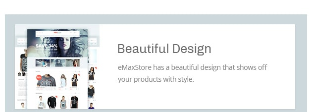eMaxStore has a beautiful design that shows off your products with style