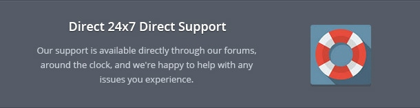 Our support is available directly through our forums, around the clock, and we're happy to help with any issues you experience.