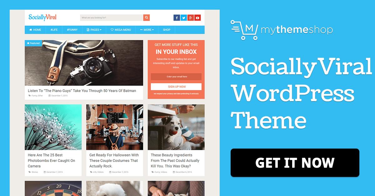 Mythemeshop Sociallyviral v2.4.4 - WordPress Magazine Blog Theme