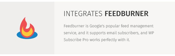 Feedburner is Google's popular feed management service, and it supports email subscribers, and WP Subscribe Pro works perfectly with it.