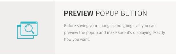 Before saving your changes and going live, you can preview the popup and make sure it's displaying exactly how you want.