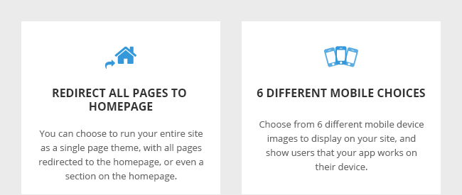 Redirect All Pages to Homepage and 6 Different Mobile Choices