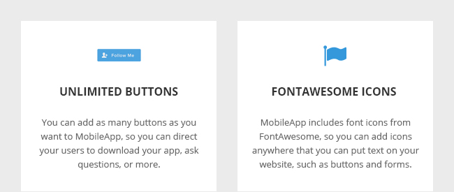 Unlimited Buttons and FontAwesome Icons