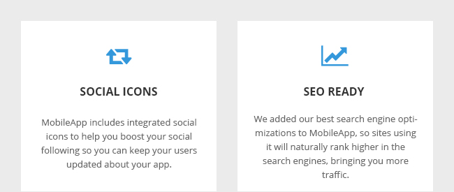Social Icons and SEO Ready