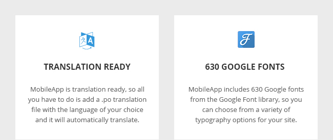 Translation Ready and 630 Google Fonts