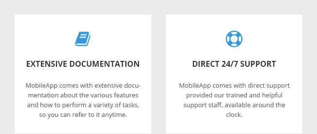 Extensive Documentation and Direct 24 by 7 Support
