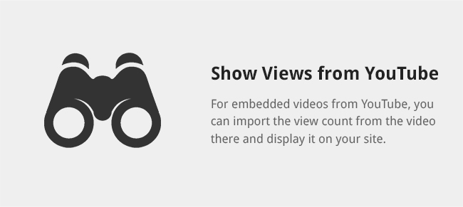 If you aren't embedding, or want to display your own view count, you can display views manually for plays on your site.