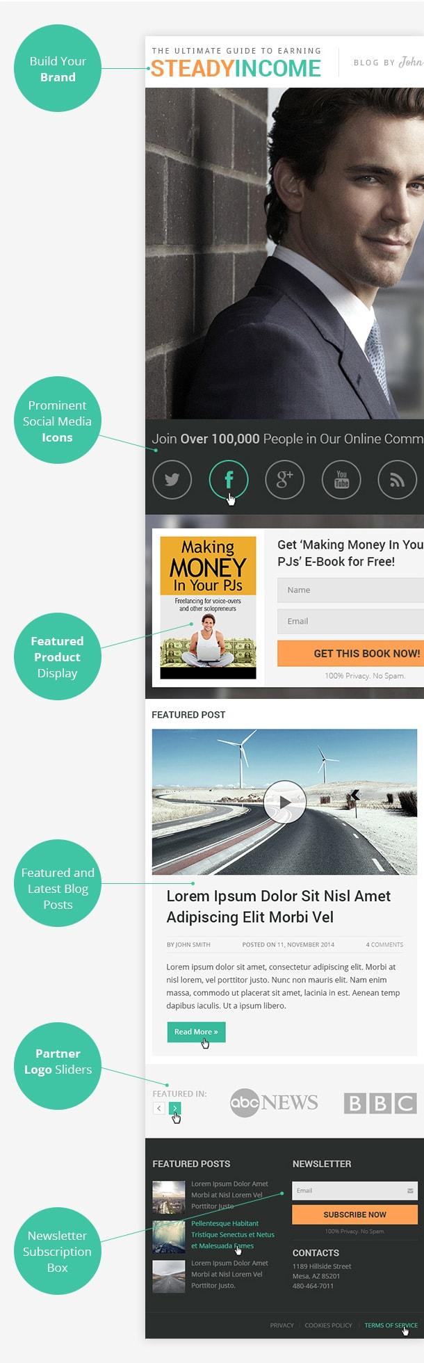 SteadyIncome Screenshot Homepage