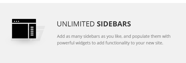 Unlimited Sidebars