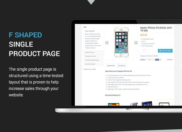 F - Shaped Single Product Page