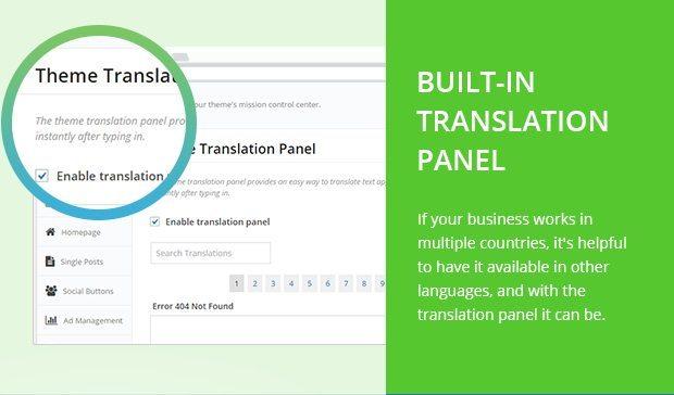 Built in Translation Panel