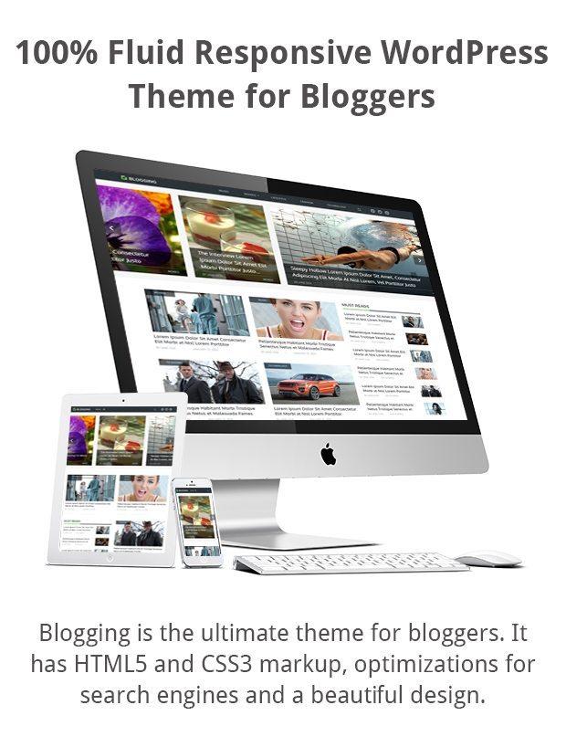 Blogging Responsive WordPress Theme