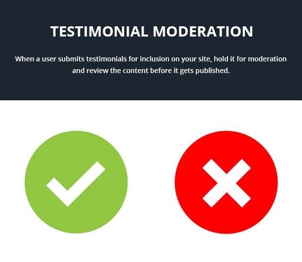 Testimonial Moderation