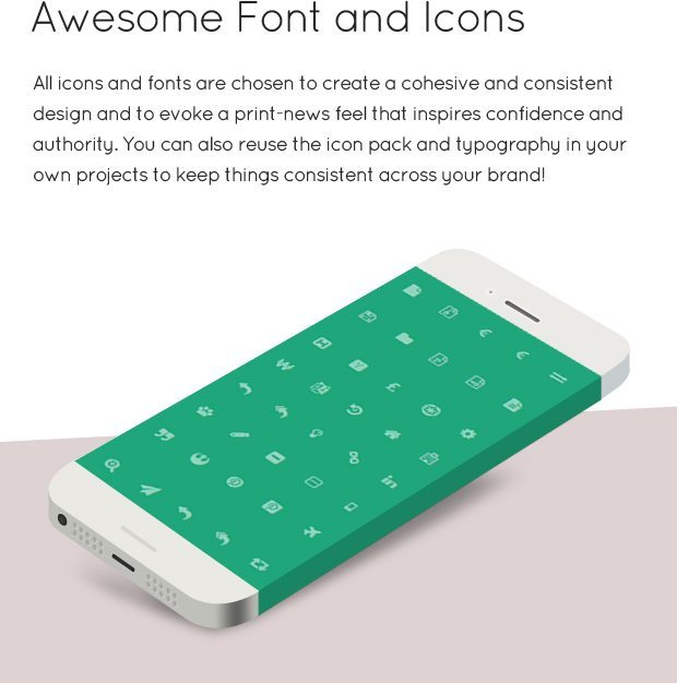 Awesome Font and Icons
