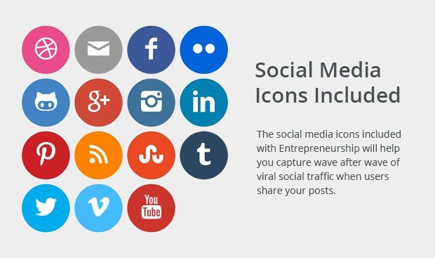 Social Media Icons Included