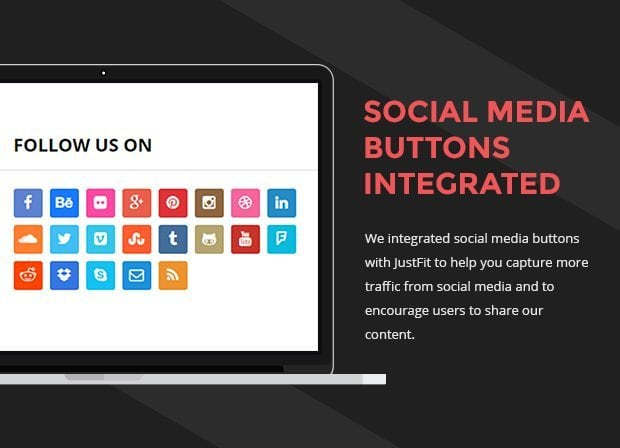 Social Media Buttons Integrated