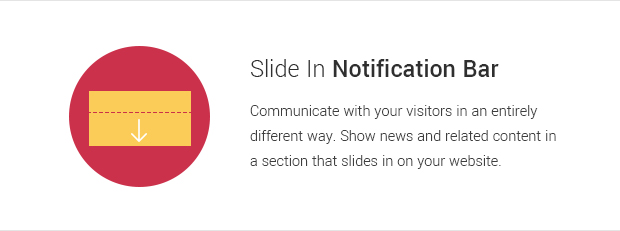 Slide In Notification Bar