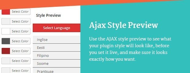 Ajax Style Preview