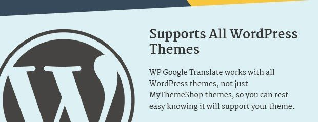 Supports all WordPress Themes