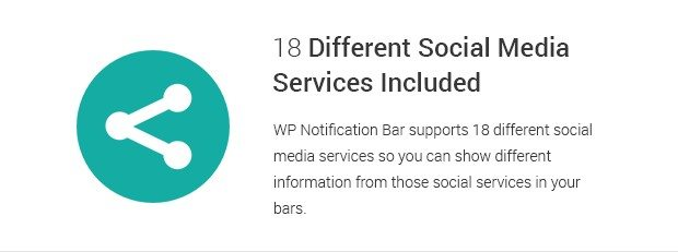 18 Different Social Media Services Included
