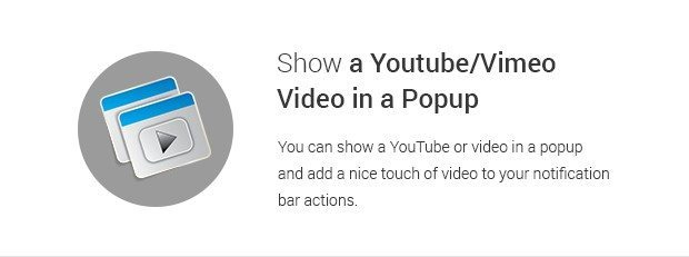 Show a Youtube Vimeo Video in a Popup