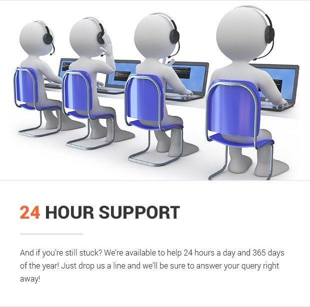 Hỗ trợ 24 giờ