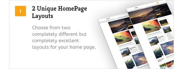 2 Unique Home Page Layouts