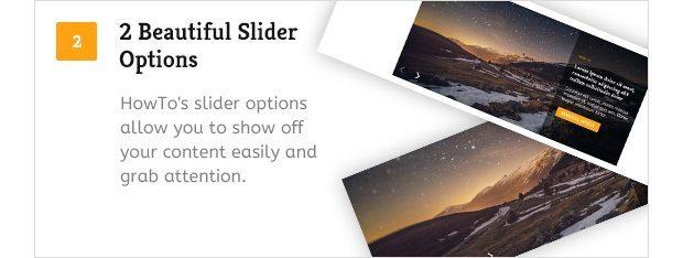 2 Beautiful Slider Options