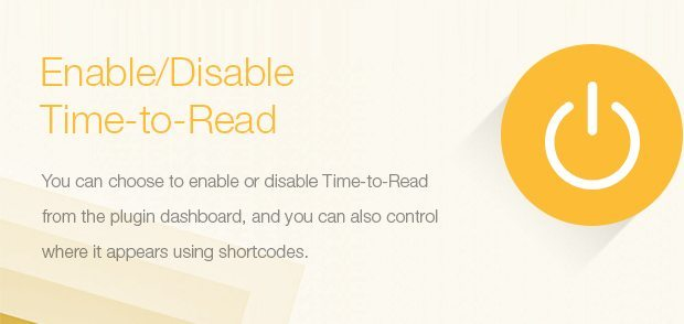 Enable-Disable Time to Read