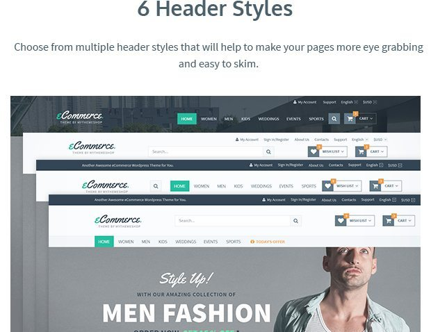 6 Header Styles