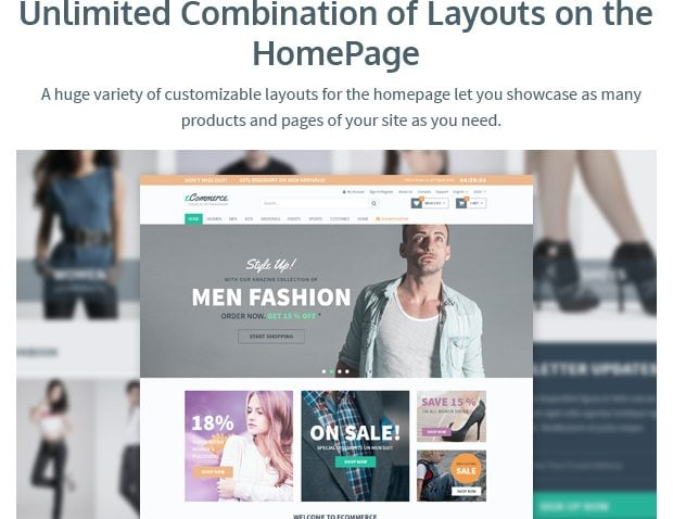 Unlimited Combination of Layouts on the Homepage