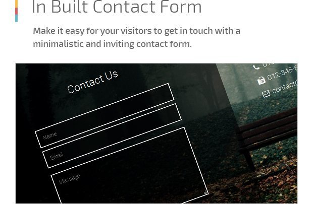 In Built Contact Form