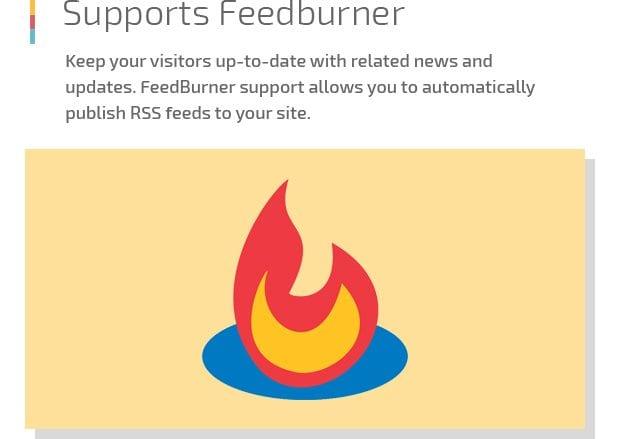 Supports Feedburner
