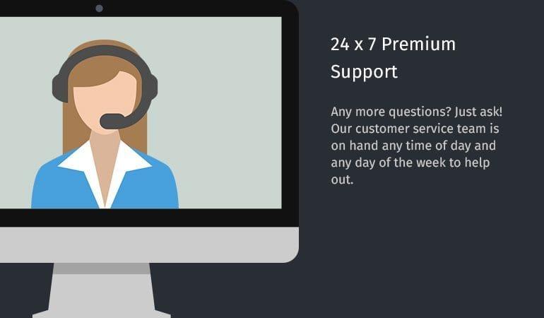 24 x 7 Premium Support