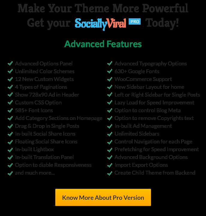 SociallyViral Pro Features