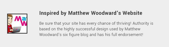 Inspired by Matthew Woodward's Website