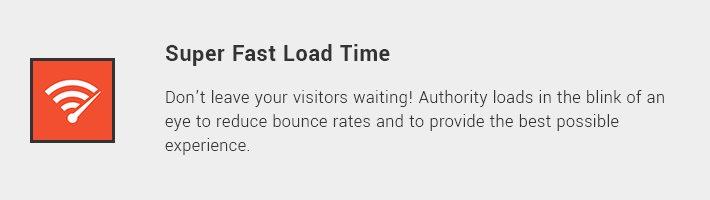 Super Fast Load Time