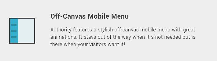Off-Canvas Mobile Menu