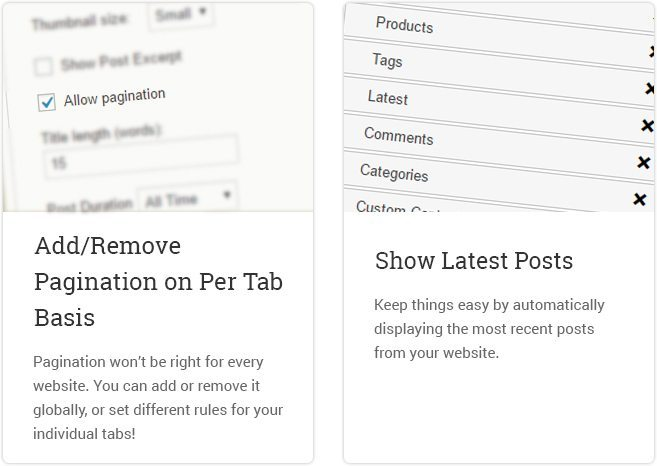 Add Remove Pagination On Per Tab Basis