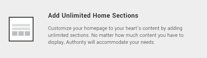 Add Unlimited Home Sections