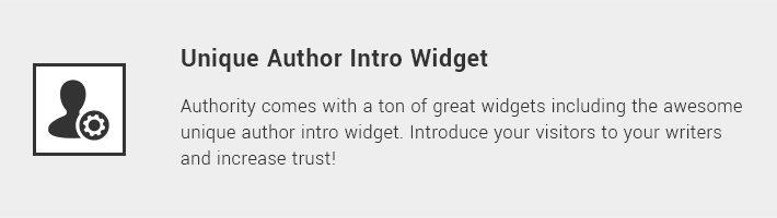 Unique Author Intro Widget