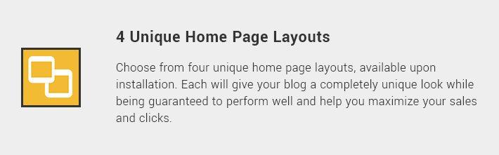4 Unique Home Page Layouts