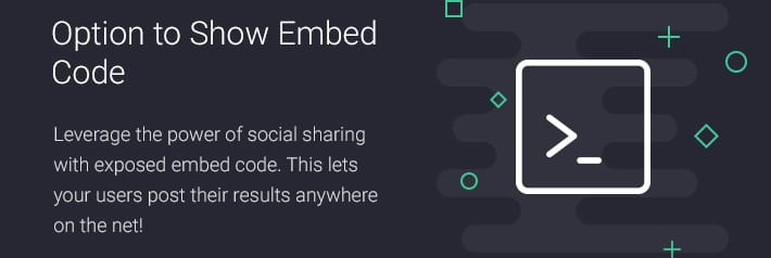 Option to Show Embed Code