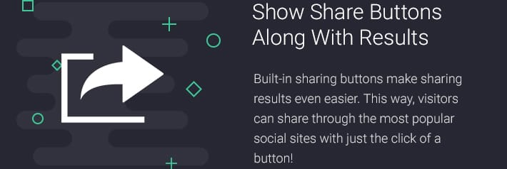Show Share Buttons Along with Result