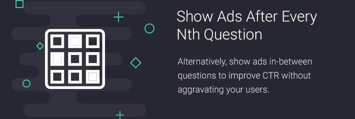 Show Ads after every nth question