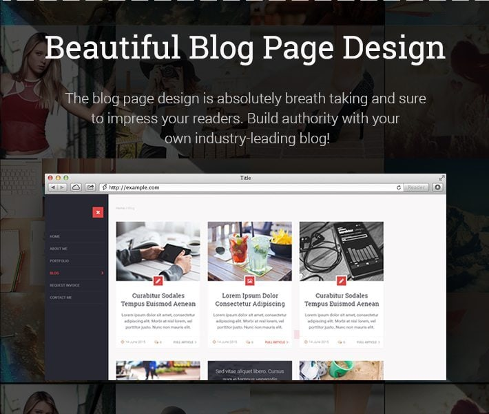 Beautiful Blog Page Design